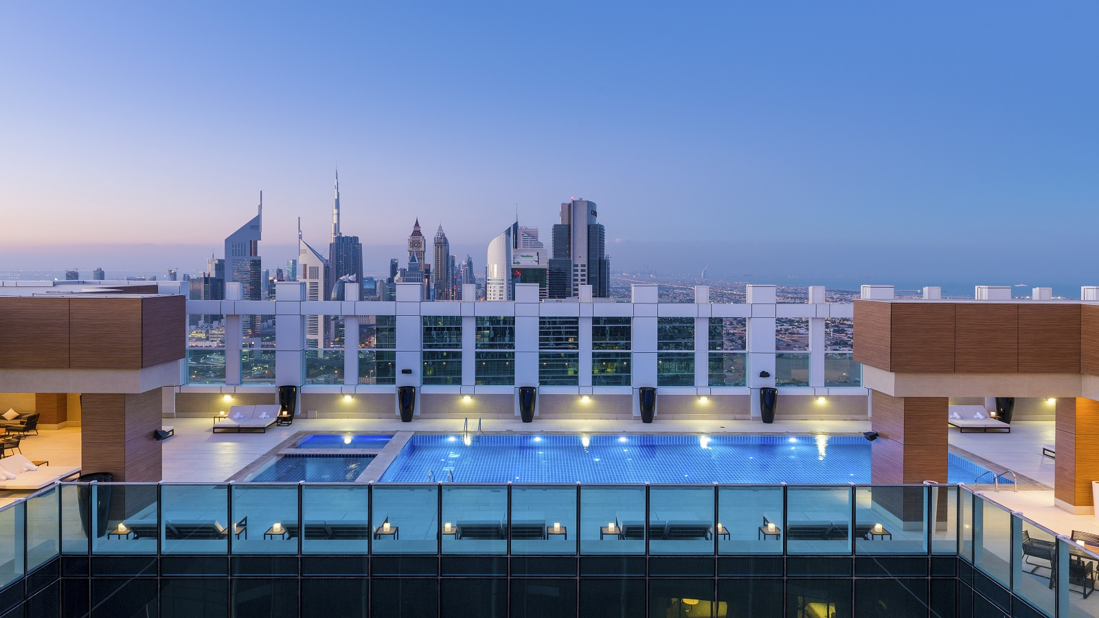 Dawn & Dusk Rooftop Terrace at Sheraton Grand Hotel, Dubai